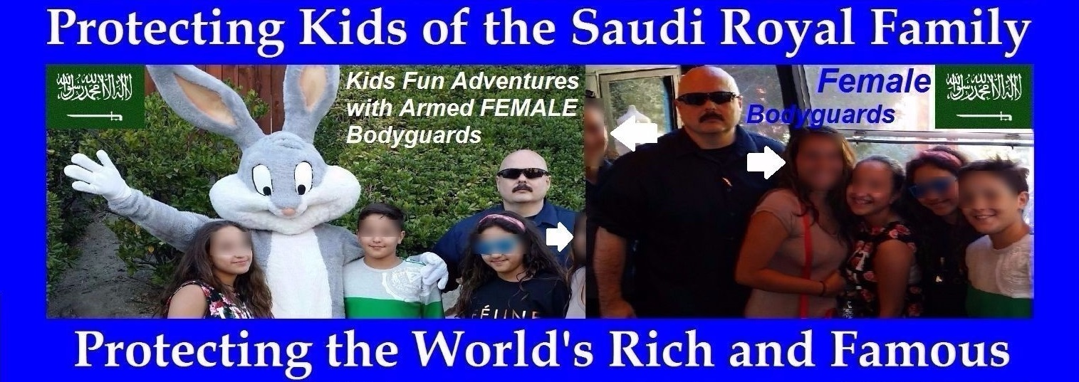 Famous celebrity bodyguards Kris Herzog, The Bodyguard Group of Beverly Hills security 90210 Saudi Arabia Kuwait UAE kids children security