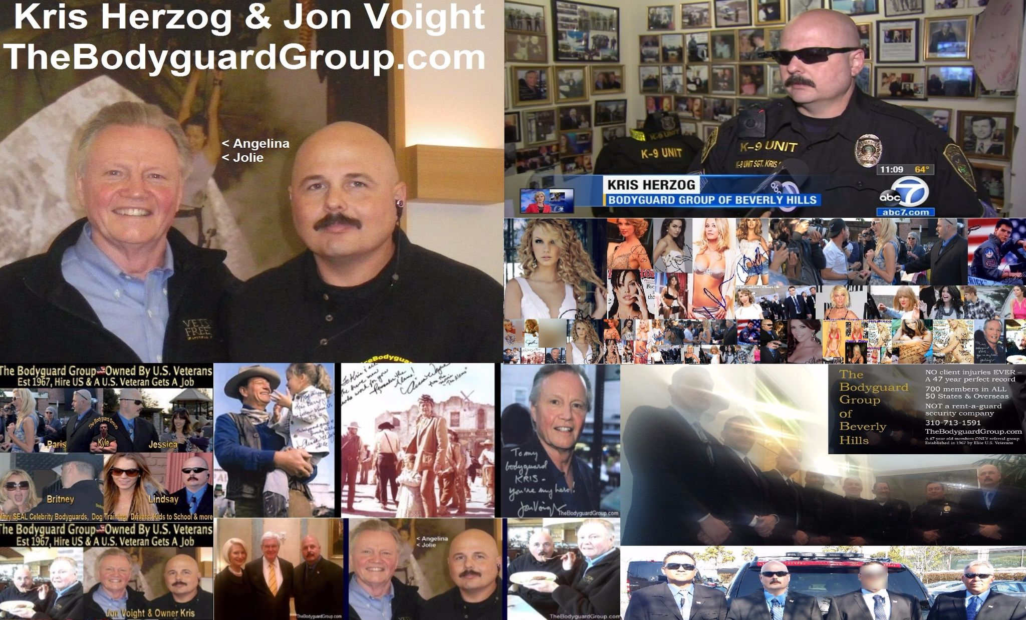 Famous celebrity bodyguard Kris Herzog and Jon Voight, famous celebrity bodyguard kris herzog of the bodyguard group of beverly hills