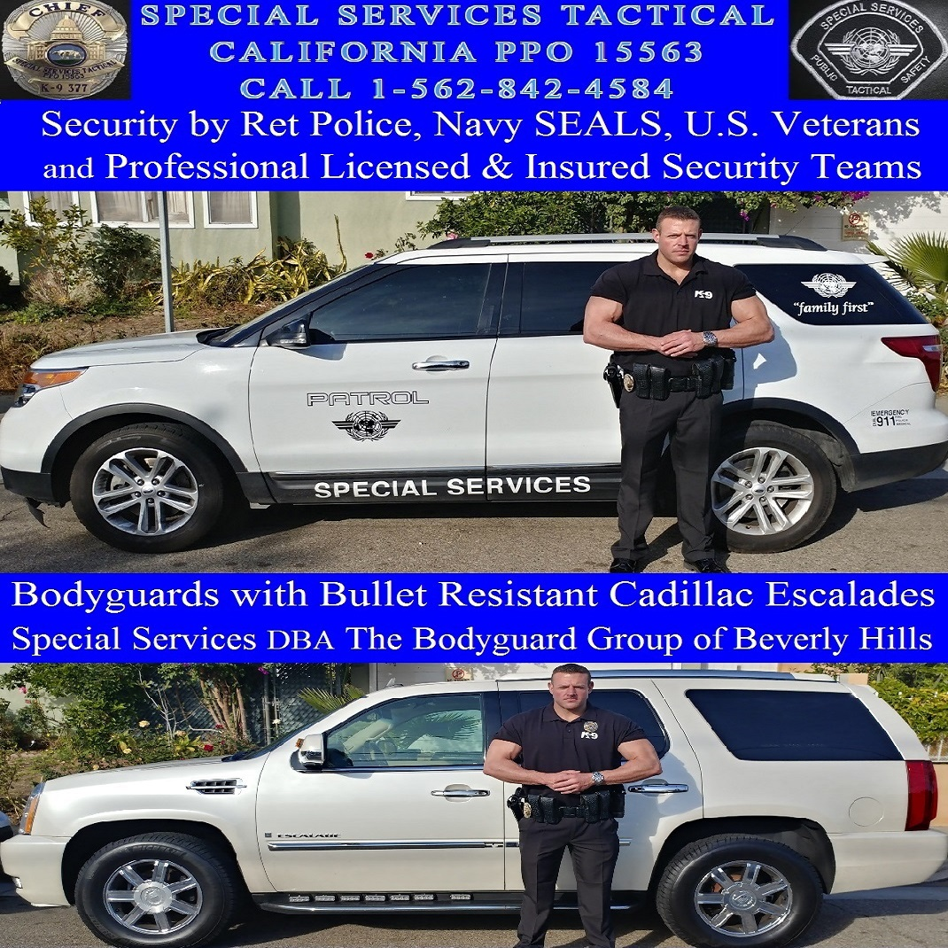 Beverly Hills Security Patrol, SST 15563 dba Beverly Hills security guards for hire, the bodyguard group of Beverly hills security patrol alarm response, CA 90210