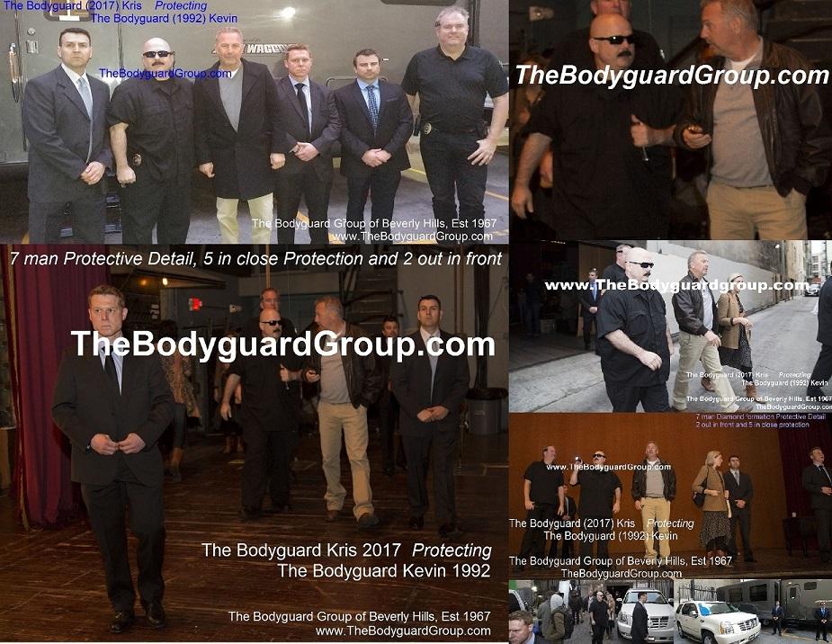 Celebrity Bodyguards Kris Herzog and The Bodyguard Group of Beverly Hills Protecting Kevin Costner