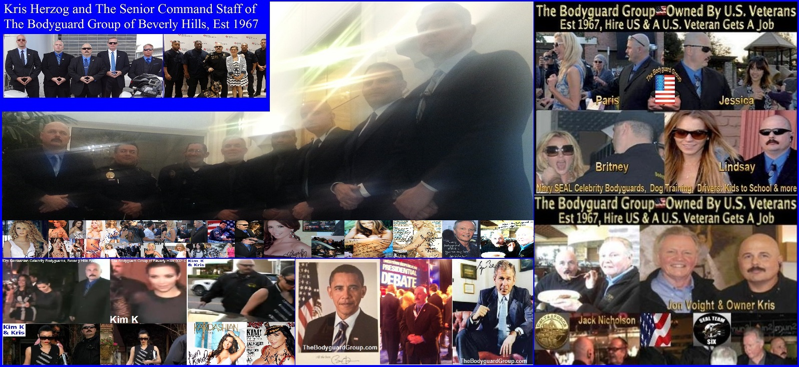 Famous celebrity bodyguard Kris Herzog, The Bodyguard Group of Beverly Hills, 90210, Los Angeles armed celebrity bodyguard for hire