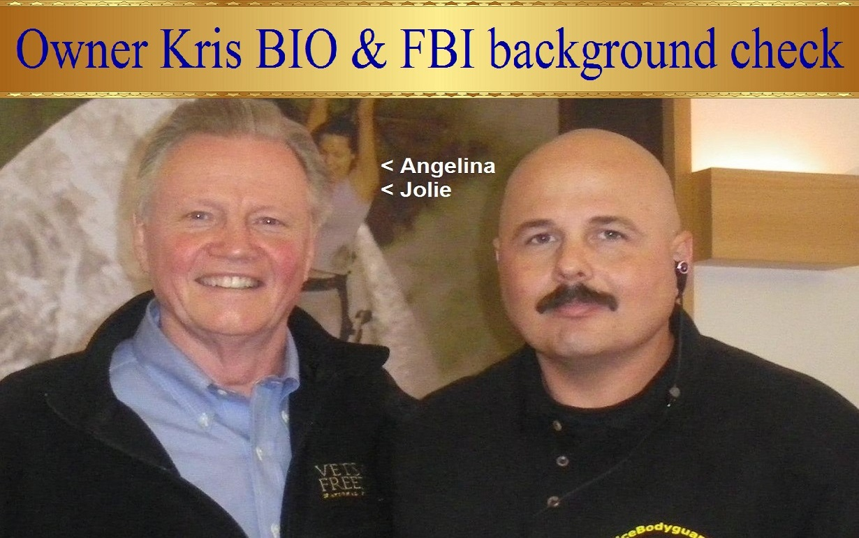 Celebrity Bodyguard Kris Herzog and Jon Voight, famous celebrity bodyguard kris herzog of the bodyguard group of beverly hills california 90210