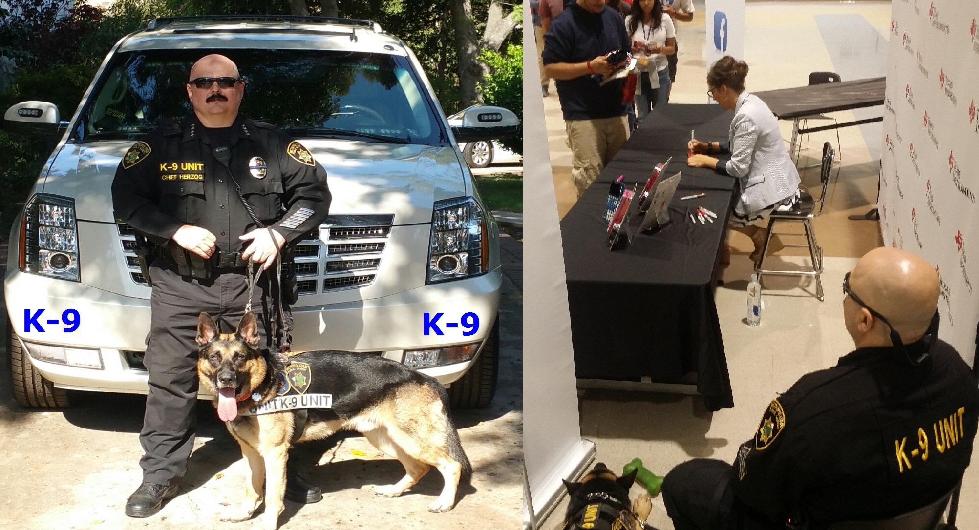 Kris and Bear Beverly Hills Bodyguards, The Bodyguard Group of Beverly Hills, California, 90210 K-9 unit for security