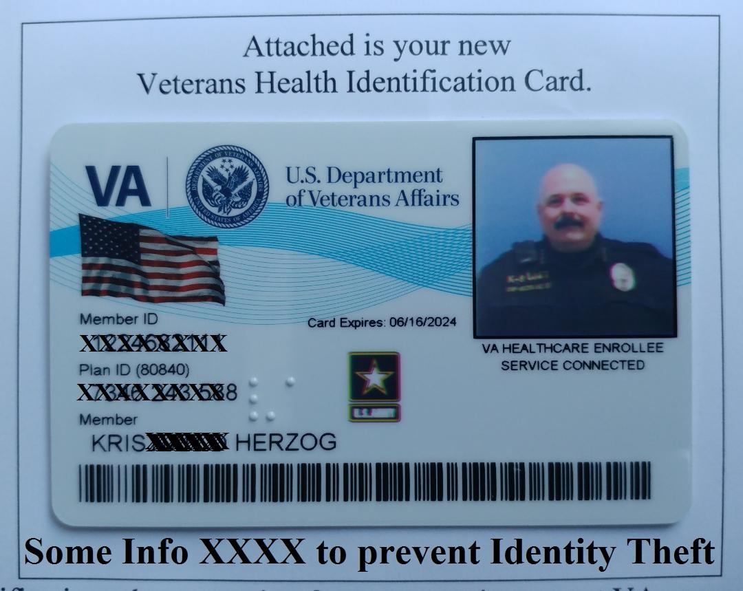 KRIS HERZOG U.S. VETERAN ID Card. Famous celebrity bodyguard Kris Herzog owner of The Bodyguard Group of Beverly Hills security 90210