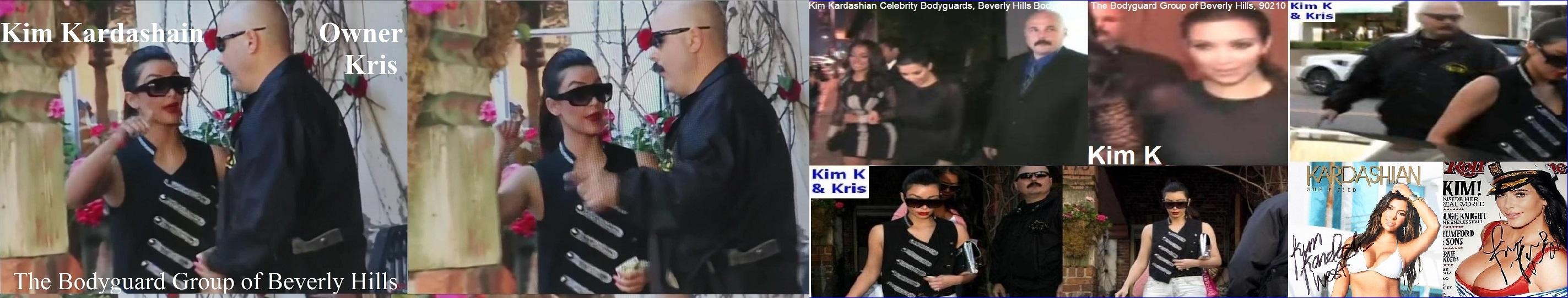 Kim Kardashian Bodyguards Famous celebrity bodyguards Kris Herzog The Bodyguard Group of Beverly Hills, 90210 Los Angeles celebrity bodyguards for hire