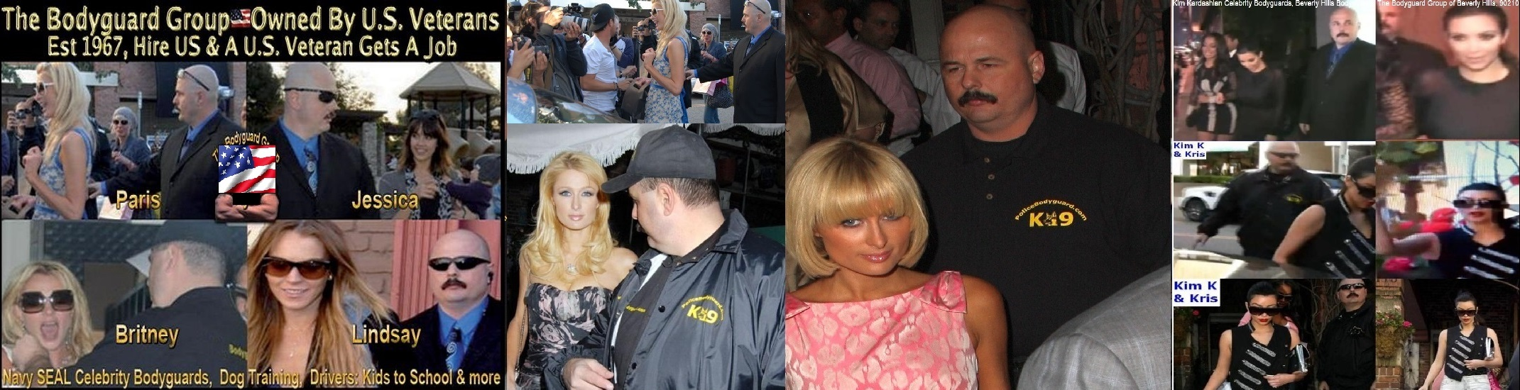 Kim Kardashian Paris Hilton Celebrity Bodyguards for hire Kris Herzog of The Bodyguard Group of Beverly Hills 90210