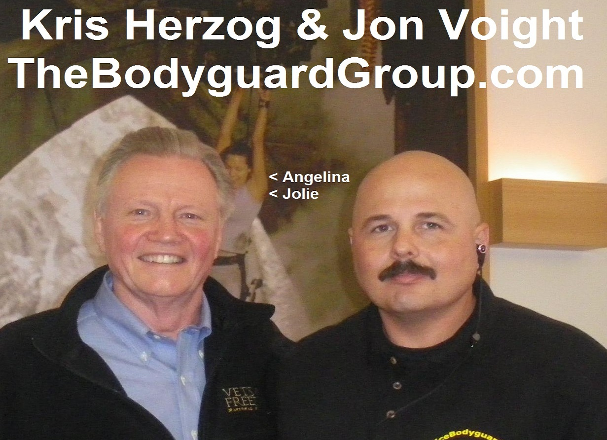 Kris Herzog and Jon Voight, famous celebrity bodyguard kris herzog of the bodyguard group of beverly hills 90210