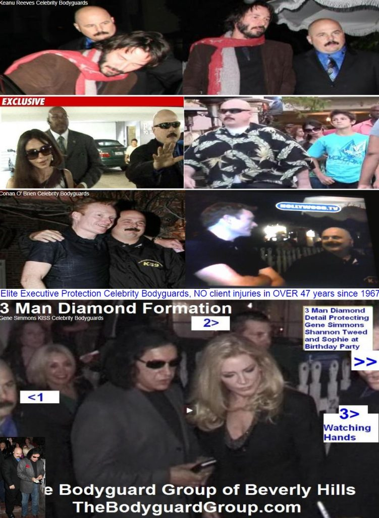 Kris Herzog and The Bodyguard Group of Beverly HIlls los angeles celebrity bodyguards for hire 90210, Keanu Reeves bodyguards