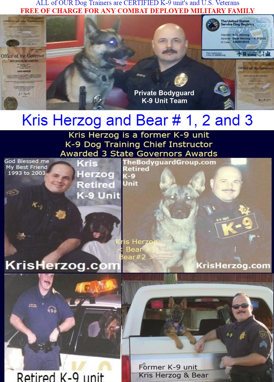 Kris Herzog, famous celebrity bodyguard Kris Herzog and Bear Herzog