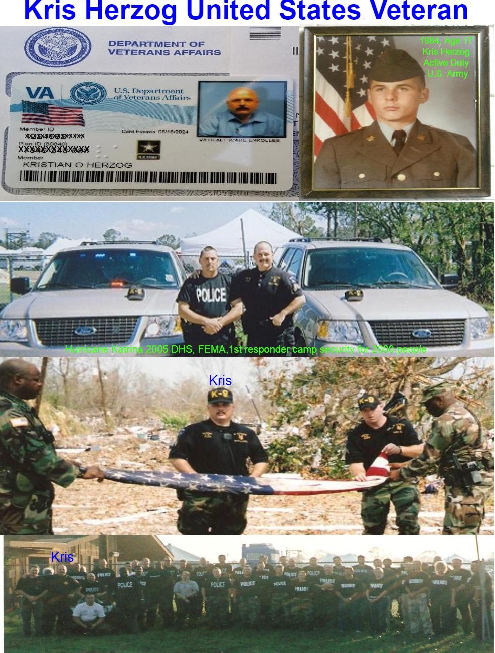 Kris Herzog, famous celebrity bodyguard Kris Herzog U.S. Veteran