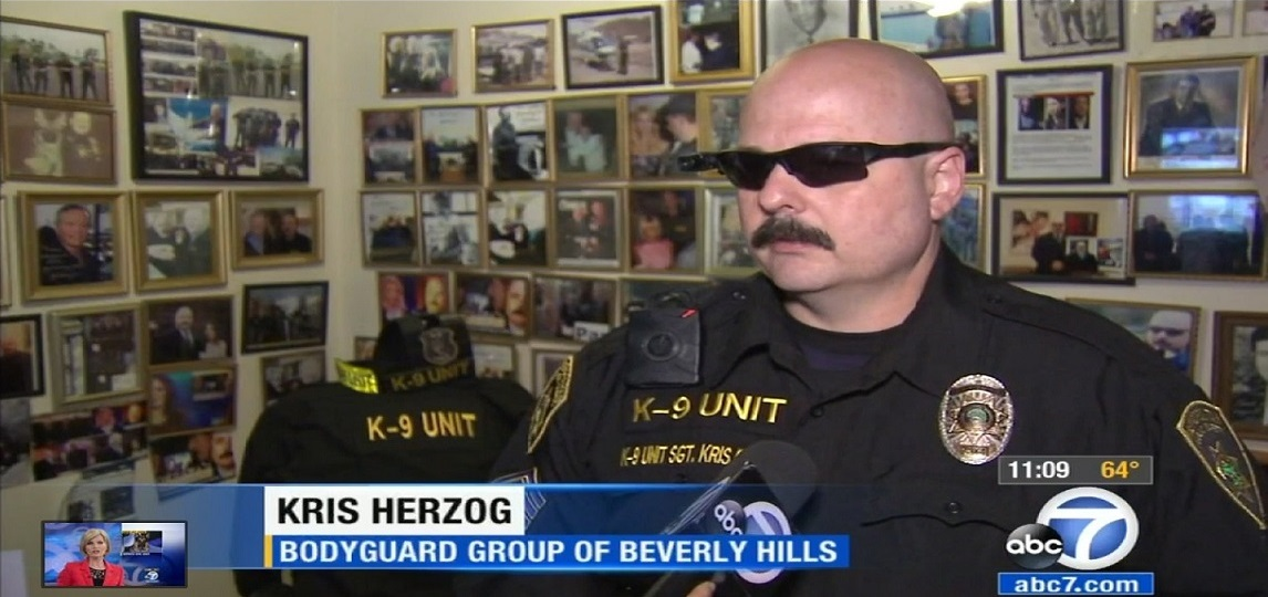 Famous bodyguard Kris Herzog, famous celebrity bodyguard Kris Herzog WORLD famous bodyguards the bodyguard group of beverly hills