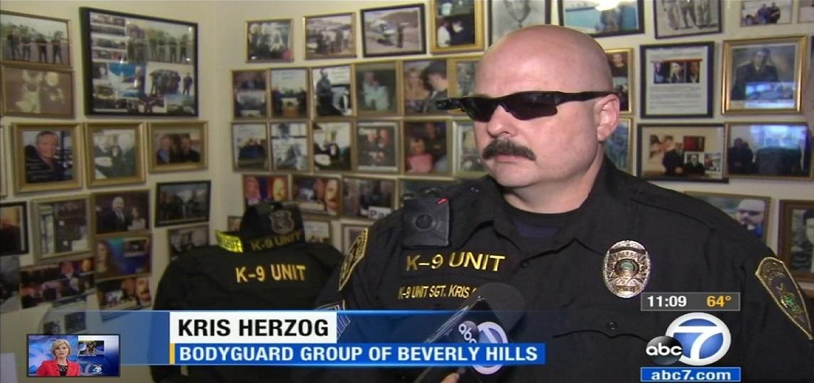 Famous bodyguard Kris Herzog, famous celebrity bodyguard Kris Herzog WORLD famous bodyguards the bodyguard group of beverly hills