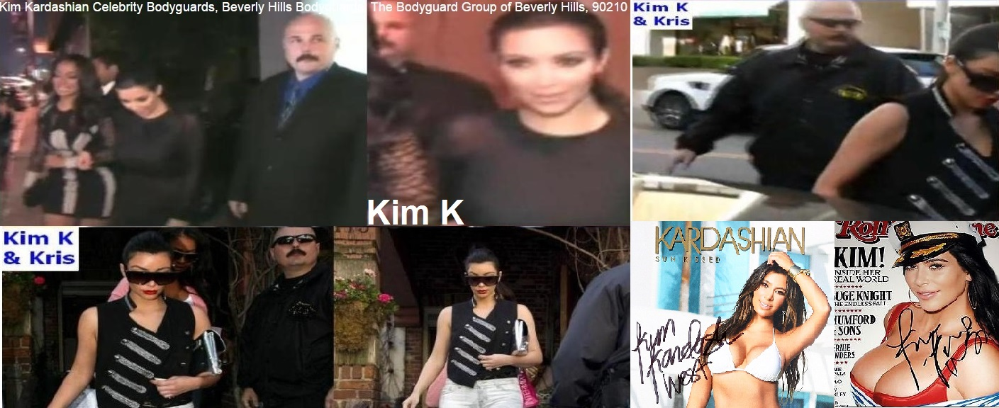 Kim Kardashian West and Kris, Kim Kardashian celebrity bodyuard Kris Herzog and The Bodyguard Group of Beverly Hill 90210
