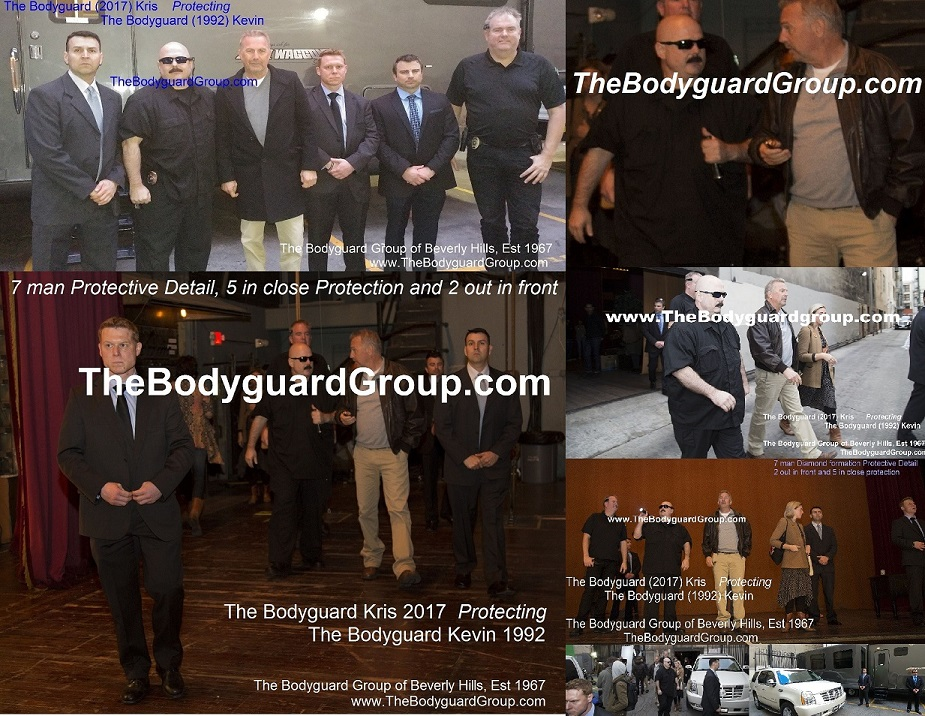 Celebrity Bodyguards Kris Herzog and The Bodyguard Group of Beverly Hills Protecting Kevin Costner