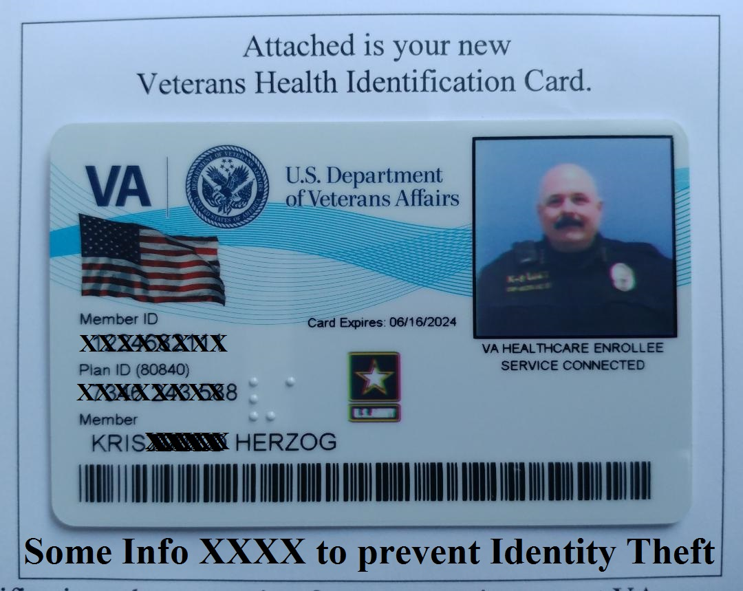 KRIS HERZOG U.S. VETERAN ID Card. Famous celebrity bodyguard Kris Herzog owner of The Bodyguard Group of Beverly Hills security 90210