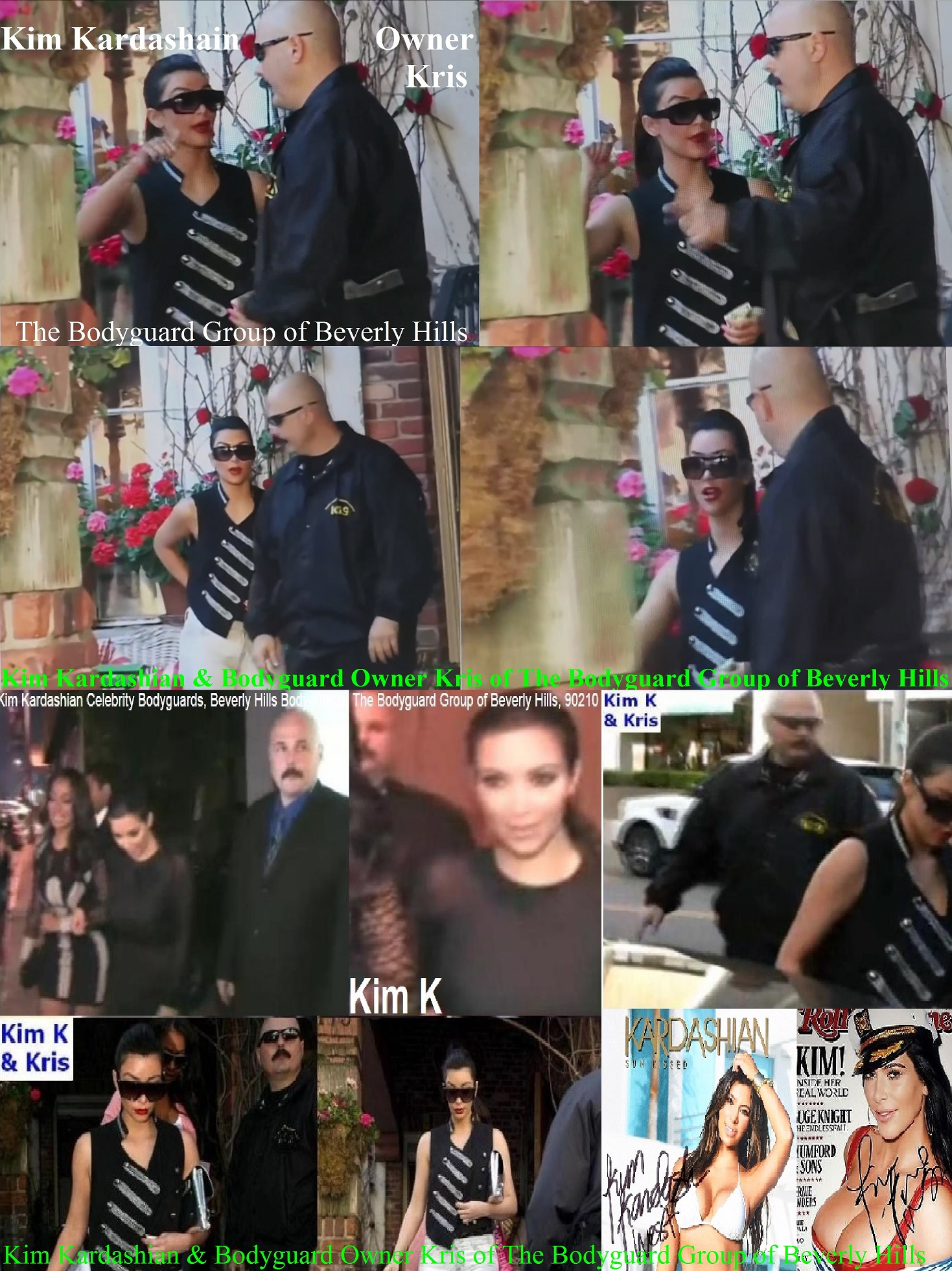 Kim Kardashian Bodyguards Famous celebrity bodyguards Kris Herzog The Bodyguard Group of Beverly Hills, 90210 Los Angeles celebrity bodyguards for hire