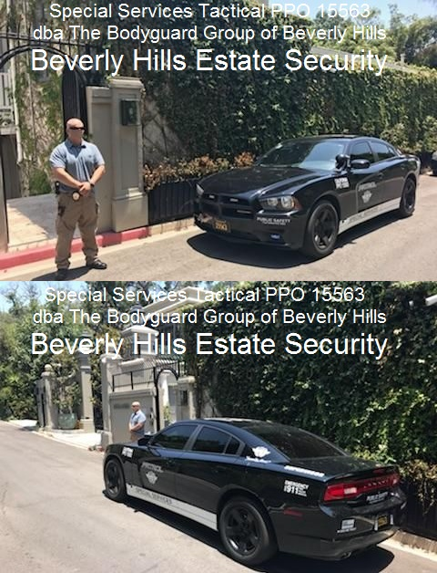 Special Services Tactical security patrol division for beverly Hills 90210 The Bodyguard Group of Beverly Hills security patrol and guards