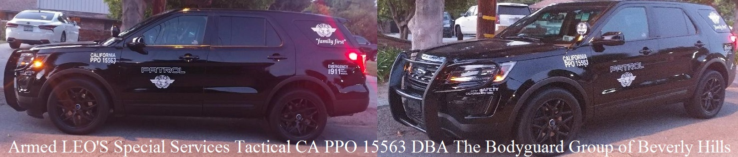 Beverly Hills Estate security by off duty Police Officers in Beverly Hills, The Bodyguard Group of Beverly Hills security 90210, Armed LEO'S Special Services Tactical CA PPO 15563 DBA The Bodyguard Group of Beverly Hills
