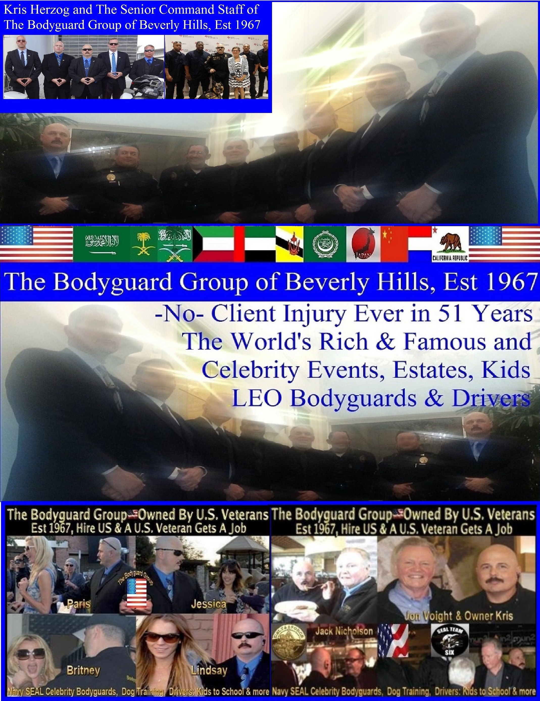 Kris Herzog, The Bodyguard Group of Beverly Hills, 90210, Los Angeles armed celebrity Beverly Hills bodyguards for hire, Bel Air security bodyguards