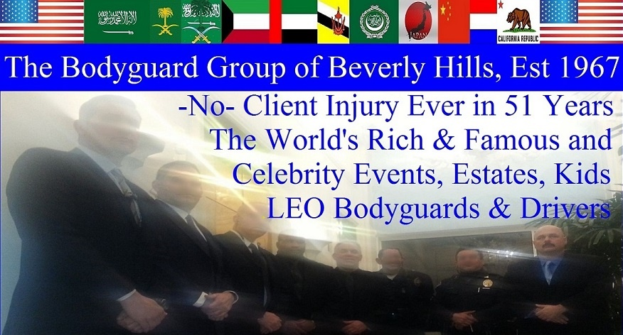 The Bodyguard Group of Beverly Hills security 90210, Los Angeles Celebrity Bodyguards for hire, Beverly Hills estate security patrol guards. Famous celebrity bodyguard Kris Herzog bel air security