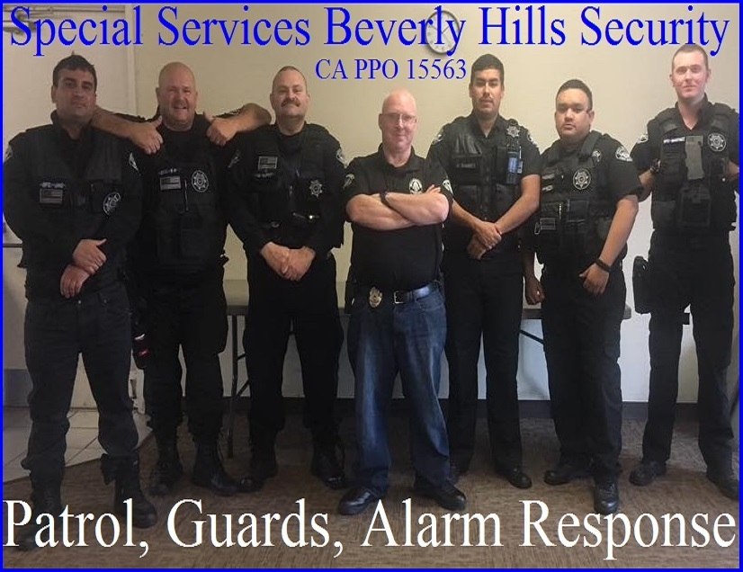 BEST Security in Beverly HIlls Security Patrol, Special Services 15563 dba Beverly Hills security guards for hire, the bodyguard group of beverly hills, CA 90210
