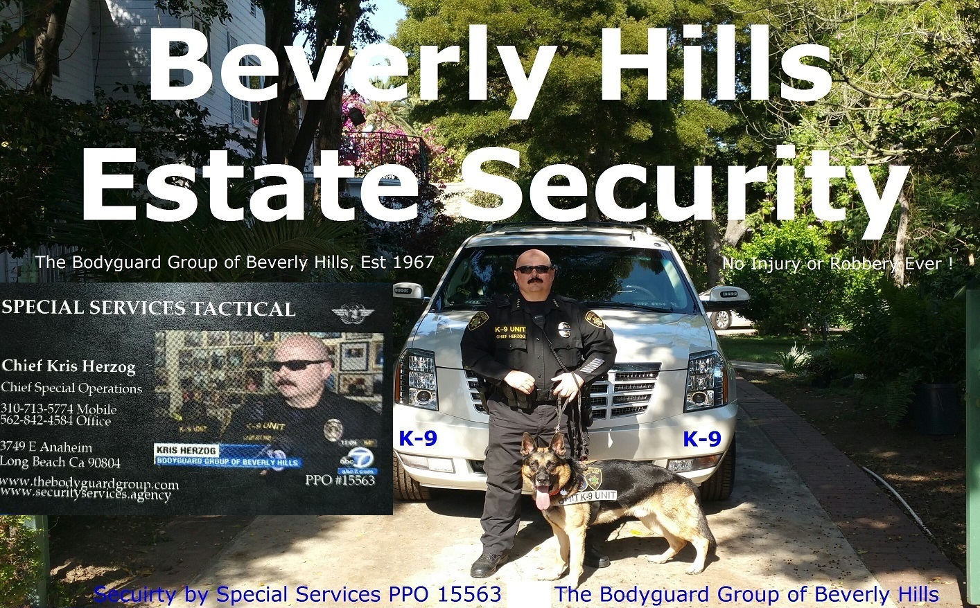Beverly Hills estate security L.A. RIOTS 2020 The Bodyguard Group of Beverly HIlls and SST PPO 15563 90210 SECURITY
