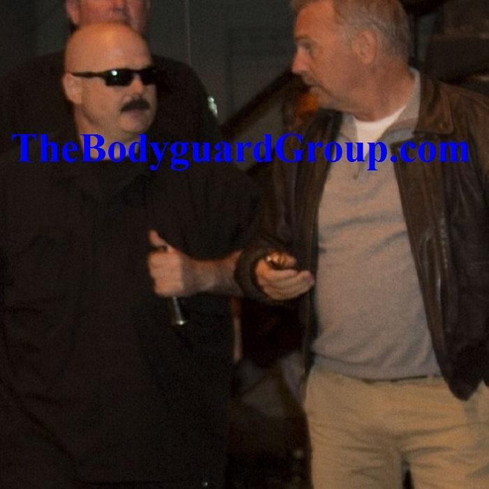 Celebrity Bodyguard Kris Herzog Bodyguarding The Bodyguard Kevin Costner the bodyguard group of beverly hills 90210 2019