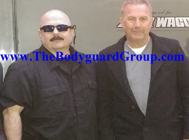 Celebrity Bodyguard Kris Herzog Bodyguarding The Bodyguard Kevin Costner the bodyguard group of beverly hills 90210 2019