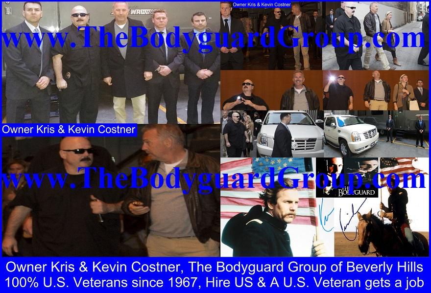 Kris Herzog and Kevin Costner, Kris Herzog owner The Bodyguard Group of Beverly Hills security 90210, U.S. Copyright MTHS by Kris Herzog