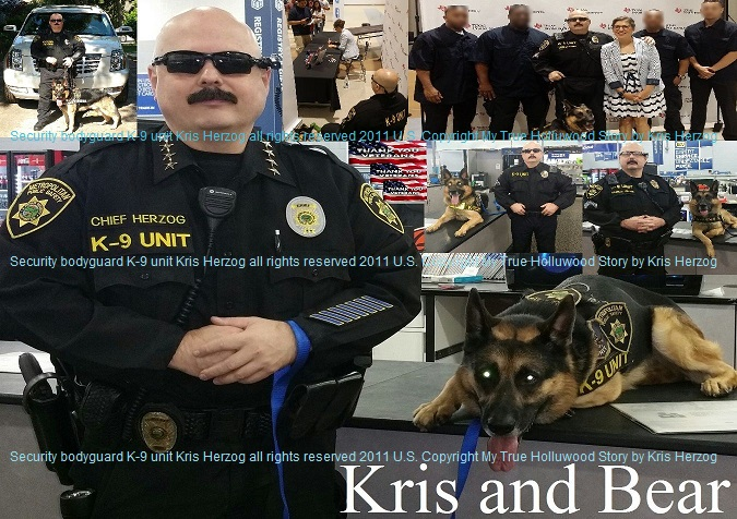 Famous celebrity bodyguard Kris Herzog k9 BEAR and The Bodyguard Group of Beverly Hills security 90210