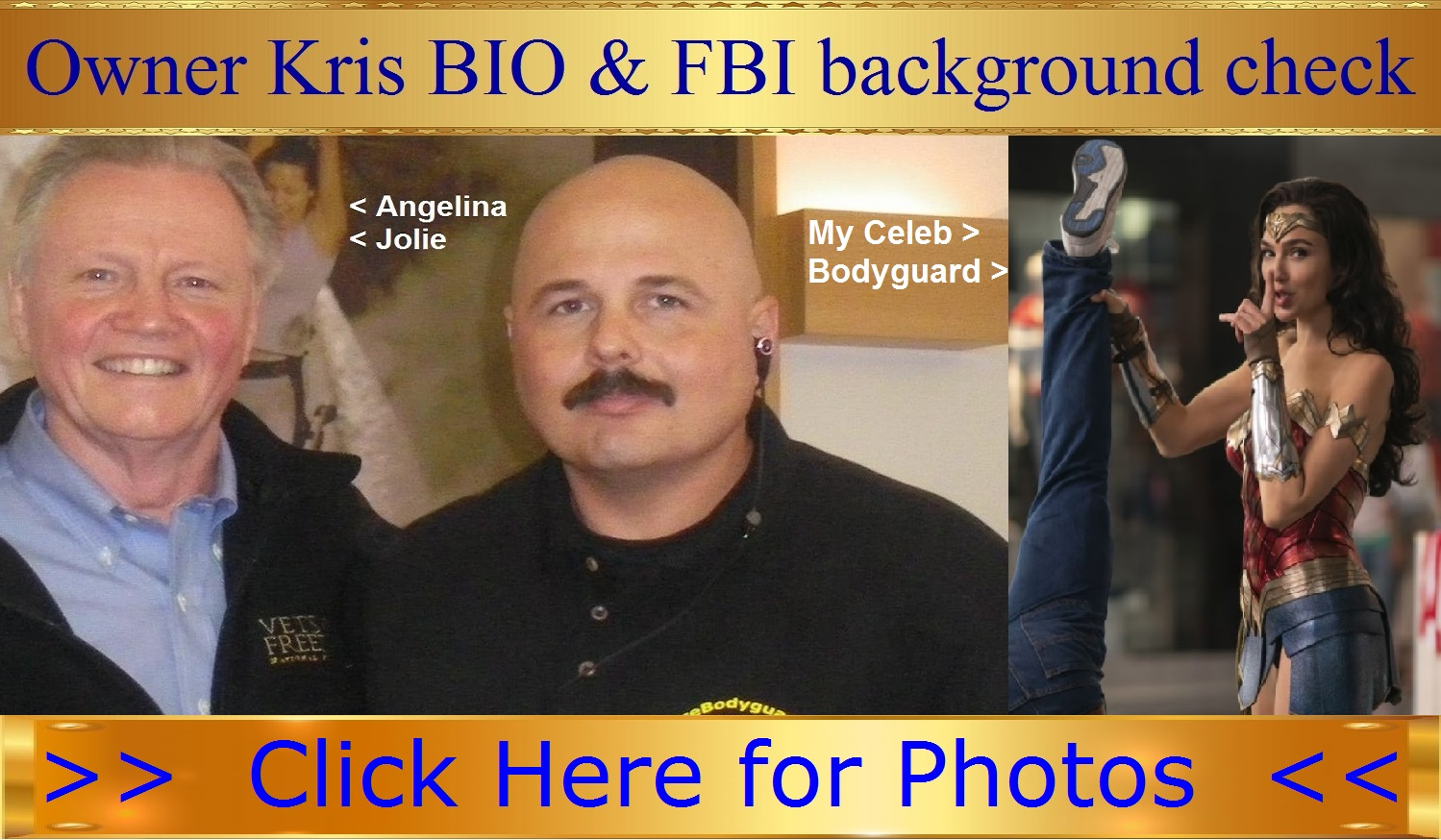 Wonder Woman bodyguard Kris Herzog, The Bodyguard Group of Beverly Hills security bodyguards for hire in 90210 Bio