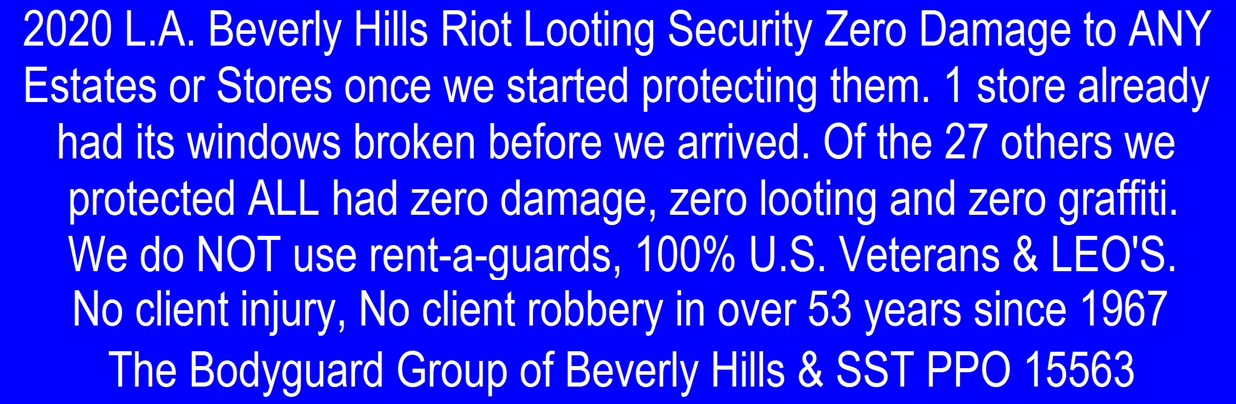 Kris Herzog Beverly Hills 90210 Los Angeles 2020 RIOTS The Bodyguard Group of Beverly HIlls riot security and SST PPO 15563