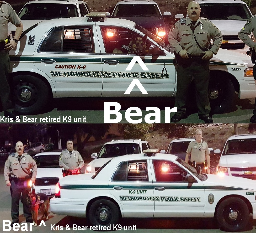 Kris Herzog and Bear, Kris and Bear, retired K-9 unit, The Bodyguard Group of Beverly Hills security 90210